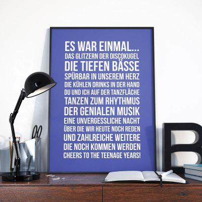 Abschiedsgeschenk - Personalisierbares Poster - Es war einmal ...