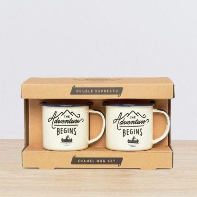 Draußen - Emaille Outdoor-Espressotassen 2er-Set
