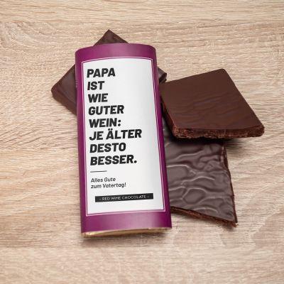 Süßigkeiten - Personalisierbare Rotwein Schokolade