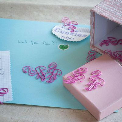 Spaß im Büro - Flamingo Büroklammern 2er-Set