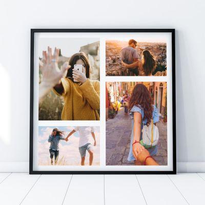 Abschiedsgeschenk - Personalisierbares Foto-Poster mit 4 Bildern