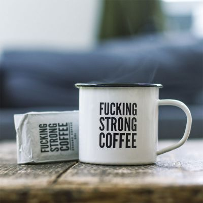 F*cking Strong Coffee Set mit Tasse