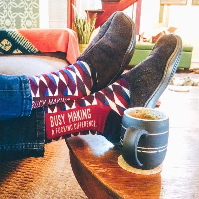 Witzige Geschenke - Männer-Socken mit markigen Sprüchen