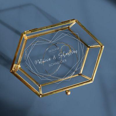 Romantische Geschenke - Personalisierbare Glasbox zur Hochzeit