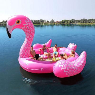 Outdoor - Aufblasbare Flamingo Insel für 6 Personen