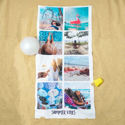 Outdoor - Personalisierbares Handtuch mit 8 Fotos und Text