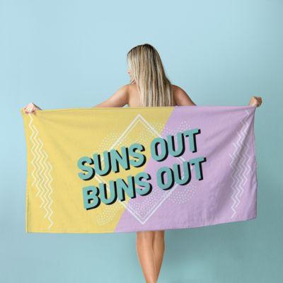 Badezimmer - Personalisierbares Handtuch in Bunt