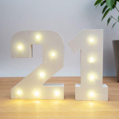 Beleuchtung - Beleuchtete Holz-Zahlen