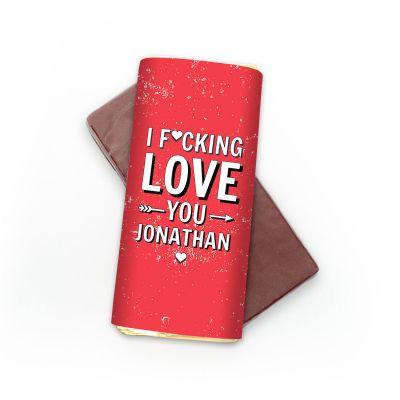 Süßigkeiten - Personalisierbare Schokolade I F[...]ing Love You