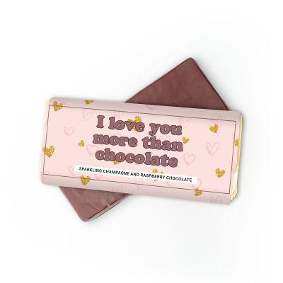 Essen & Trinken - Champagner-Himbeer Schokolade I Love You More