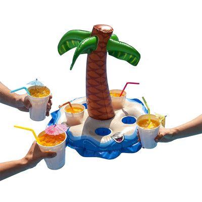 Geschenk für Freund - Aufblasbarer Getränkehalter mit Palme