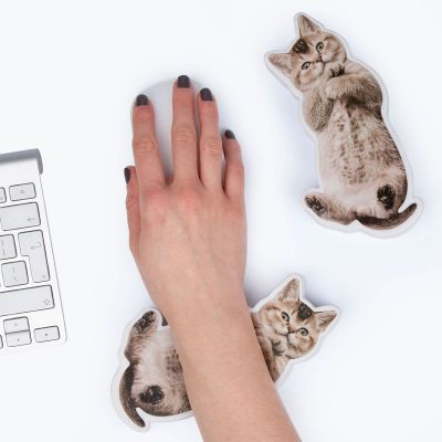 Spaß im Büro - Handballenauflage und Stressspielzeug Hund bzw. Katze