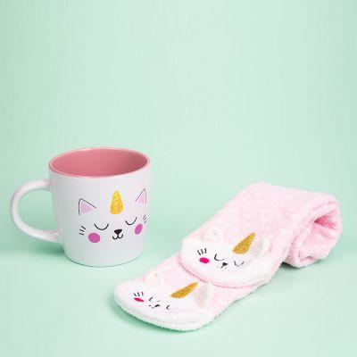 Geschenke für Schwester - Kittycorn Socken und Tasse