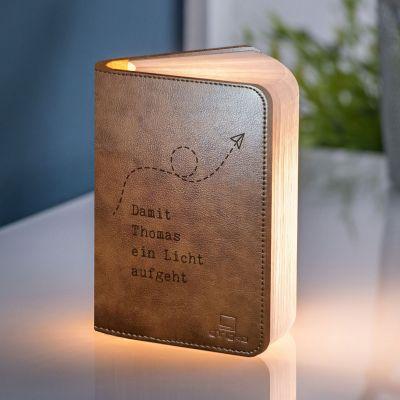 Geburtstagsgeschenke für Frauen - Personalisierbare Buch-Leuchte mit Text