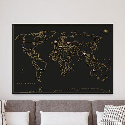 Geschenk für Paare - Magnet-Sammel Weltkarte
