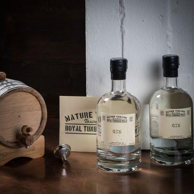 Alkohol - Gin selbst reifen lassen - Set mit Eichenfass