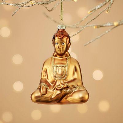 Weihnachtsdeko - Glücklicher Buddha Christbaumschmuck