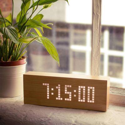 Geschenk für Freund - Click Message Clocks aus Holz mit LEDs
