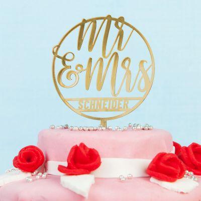 Hochzeitsgeschenke - Personalisierbarer Cake Topper zur Hochzeit