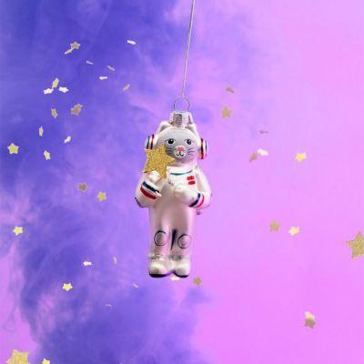 Weihnachtsdeko - Weltraum-Katze Christbaumschmuck