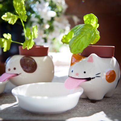 Weihnachtsgeschenke für Kinder - Peropon Tierische Blumentöpfe mit Wasserversorgung