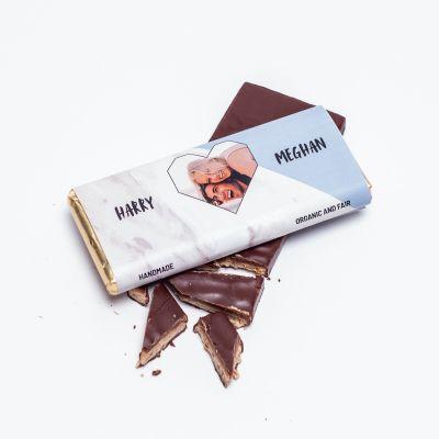 Valentinstag Geschenke - Personalisierbare Schokolade mit Foto-Herz und Text