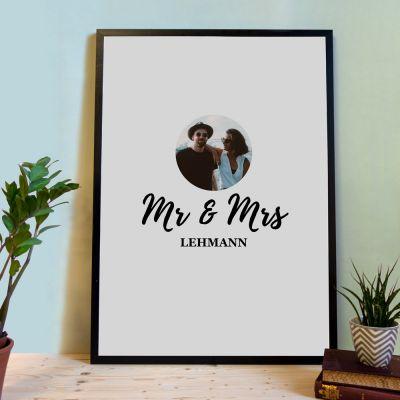 Geschenk für Paare - Personalisierbares Poster als Gästebuch
