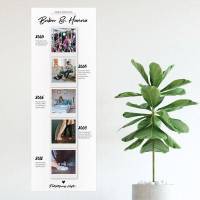Poster - Personalisierbares Foto-Poster Unsere Geschichte