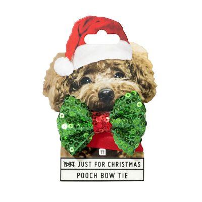 Kleidung & Accessoires - Weihnachts-Halsband mit Fliege für Hunde