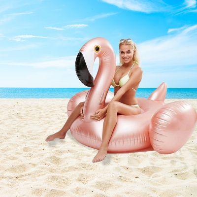 Draußen - Aufblasbarer Riesen-Flamingo in Rosé-Gold
