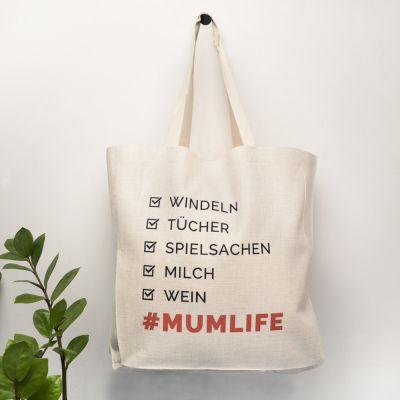 Muttertagsgeschenke - Personalisierbare Tasche Checkliste