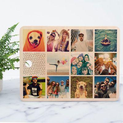 Hochzeitstag Geschenk - Personalisierbares Schneidebrett mit 11 Bildern