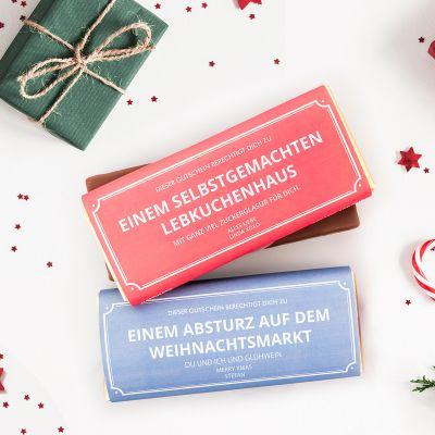 Geschenke für Mama - Personalisierbarer Gutschein mit Schokolade