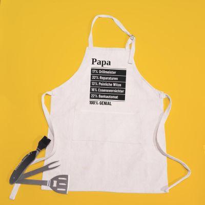 Geburtstagsgeschenke für Papa - Personalisierbare Küchenschürze 100 Prozent