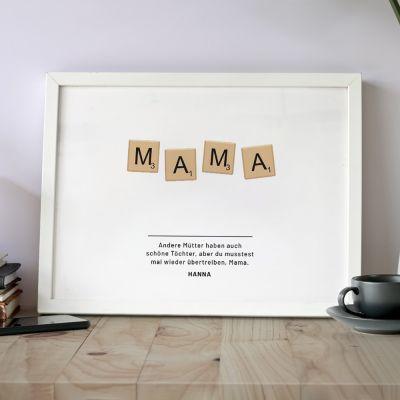 Geschenke zur Geburt - Personalisierbares Poster Scrabble