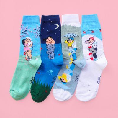 Romantische Geschenke - Liebespaar Socken