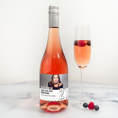 Alkohol - Personalisierbarer Secco mit Bild und Text