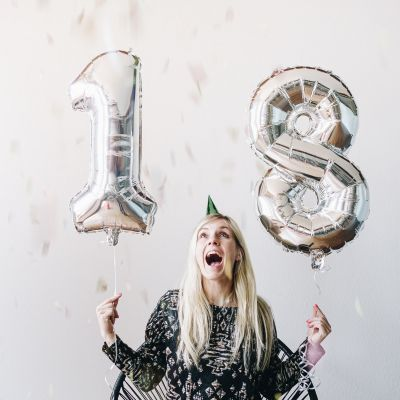 Hochzeitstag Geschenk - Riesen Zahlen-Luftballons
