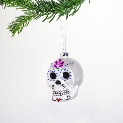 Weihnachtsdeko - Sugar Skull Christbaumschmuck