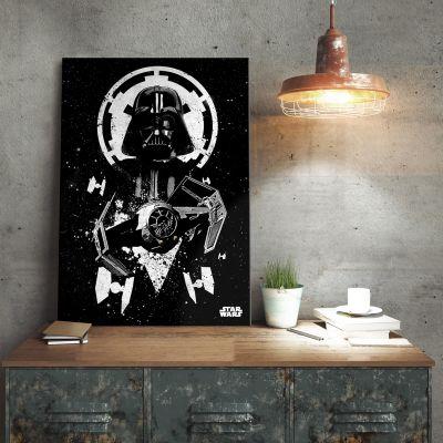 Star Wars - Star Wars Metallposter - Vader Tie Fighter