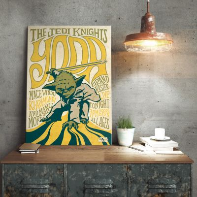 Star Wars Metallposter - Yoda