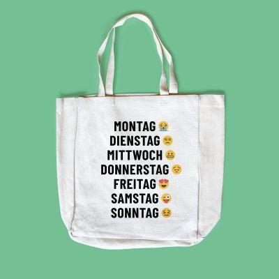 Kleidung & Accessoires - Personalisierbare Tasche mit 7 Zeilen