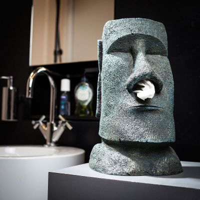 Weihnachtsgeschenke für Eltern - Moai Taschentuchhalter