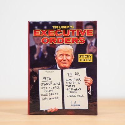 Witzige Geschenke - Notizzettel mit Verfügungen des Präsidenten