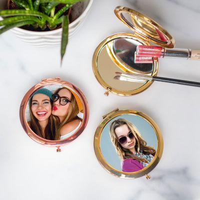 Geschenke für Freundin - Personalisierbarer Taschenspiegel mit Foto