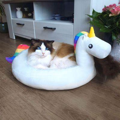 Witzige Geschenke - Einhorn Kuschelplatz für Hund und Katze