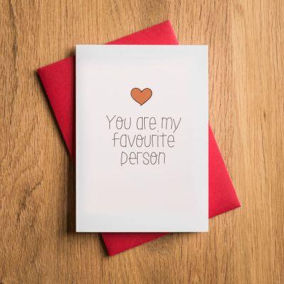 Valentinstags- und Liebeskarte Favourite Person
