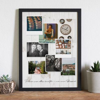 Hochzeitstag Geschenk - Personalisierbares Foto-Poster im Vintage Look