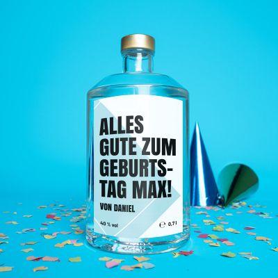 Geburtstagsgeschenke - Personalisierbarer Wodka mit Text