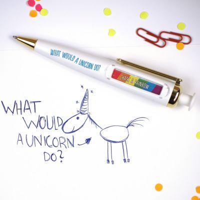 Weihnachtsgeschenke für Kinder - Einhorn Orakel Kugelschreiber